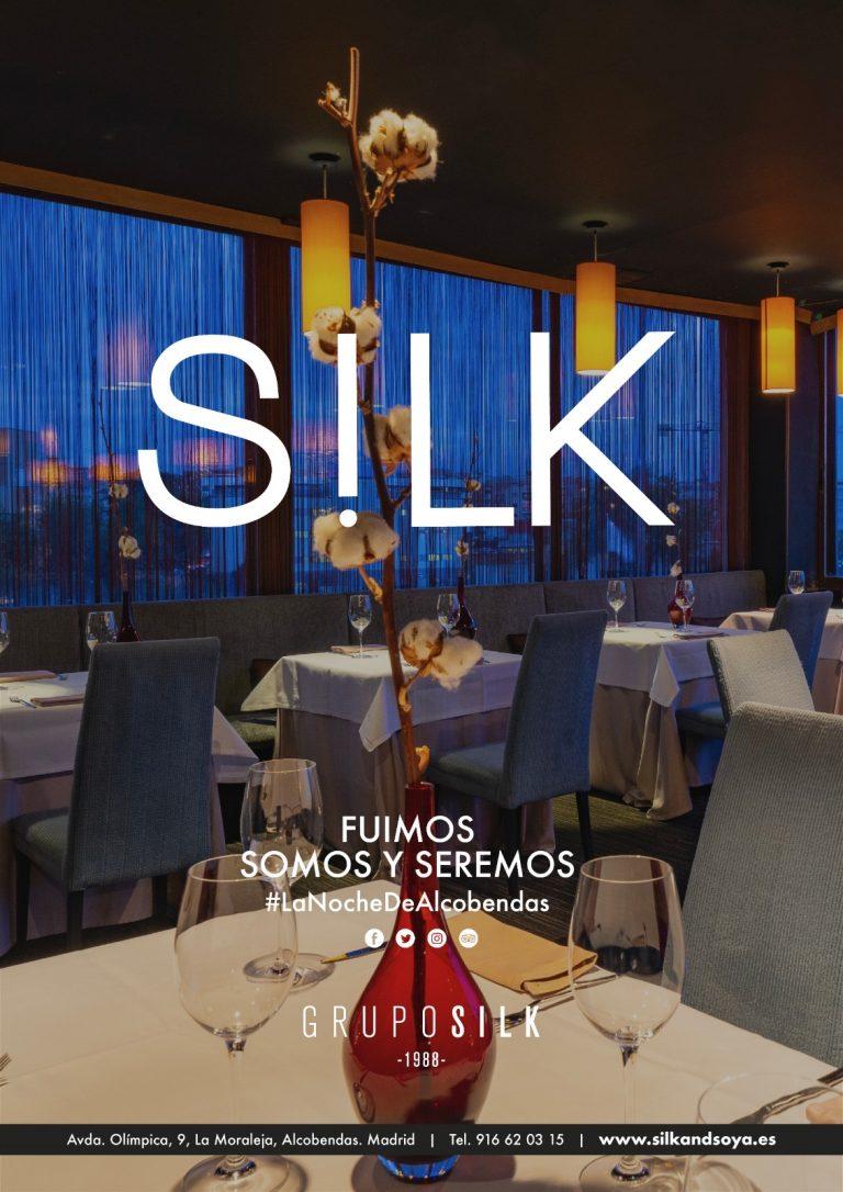 Cartel Restaurante Grupo Silk and Soya Alcobendas