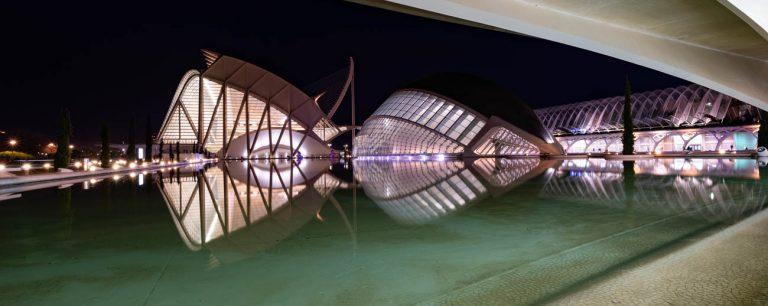 Ciudad Artes Valencia Noche