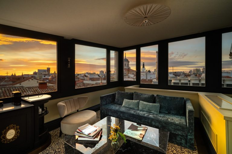 Hotel Cool Rooms Madrid atardecer