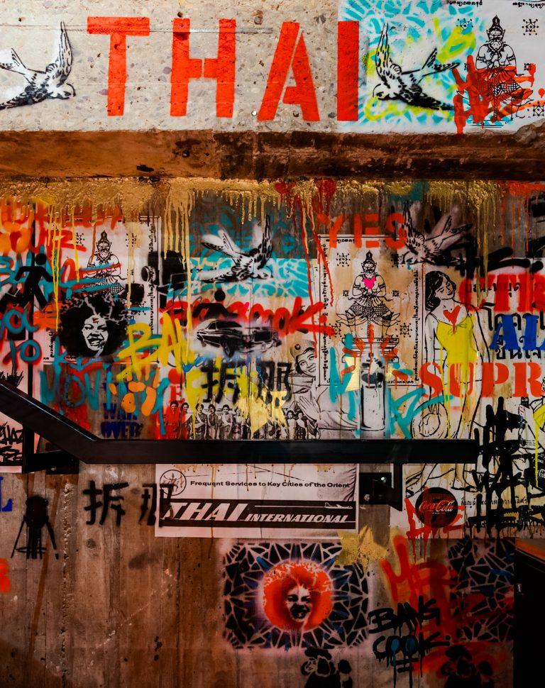 Diseño Graffiti Restaurante Thai Bang Cook
