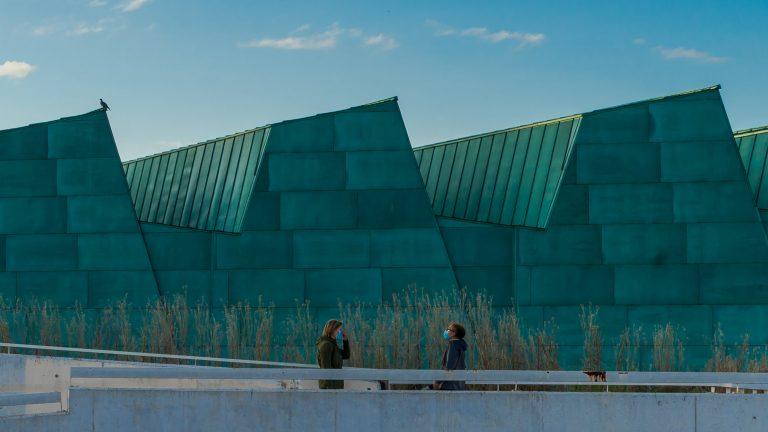 Detalle material verde Museo Ciencia Valladolid Moneo Teresa