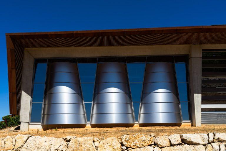 Detalle Exterior Bodega Portia Norman Foster