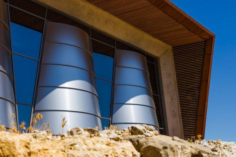 Detalle Detalle Exterior Bodega Portia Norman Foster