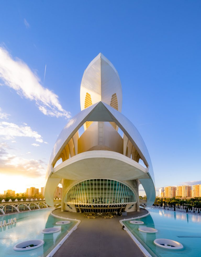 Palacio Artes Reina Sofia Ciudad Artes Ciencias Valencia Calatrava
