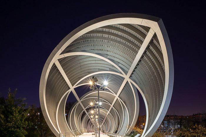 Puente Monumental Arganzuela de Perrault de noche