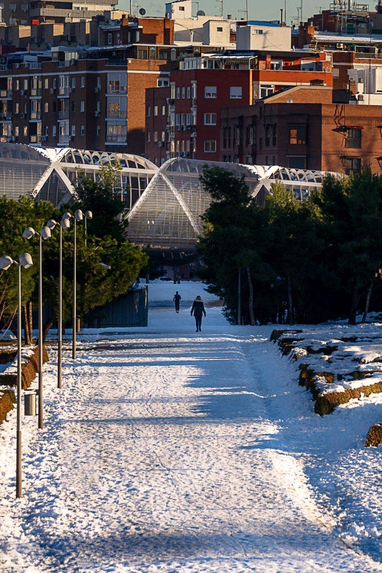 Sección Puente Monumental Arganzuela de Perrault con nieve