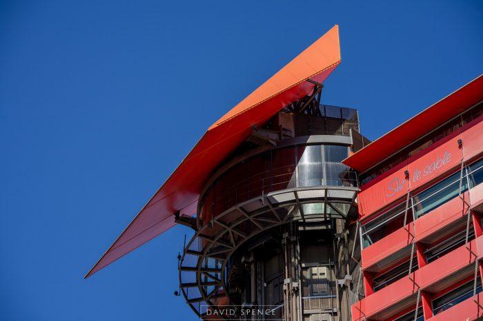 Detalle parte superior Hotel Puerta America